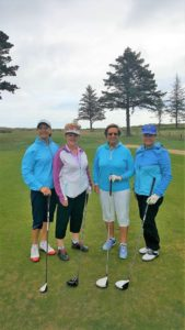 Sarah and ladies from Southerndown Golf Club